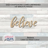 believe wood cutouts