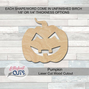 pumpkin wood cutouts