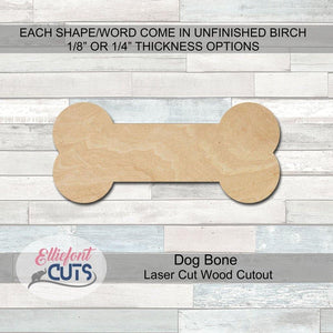 dog bone wood cutouts