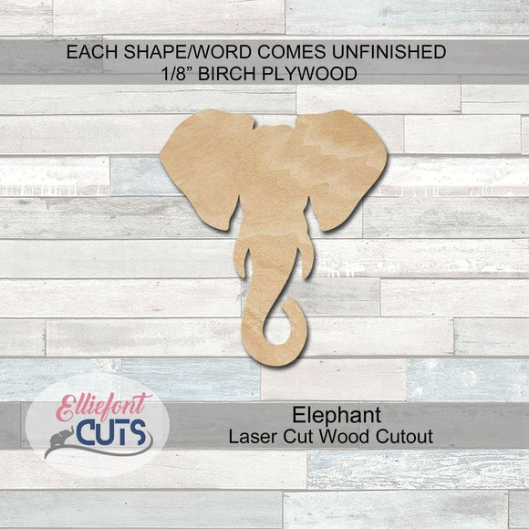 Elephant Wood Cutouts