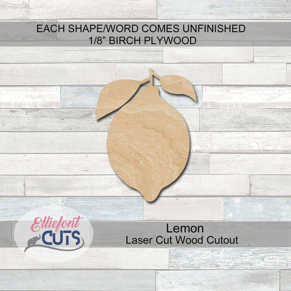 lemon wood cutout