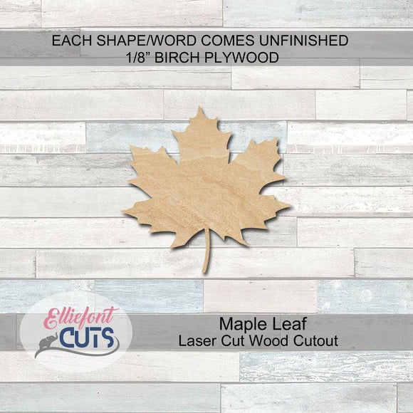 Maple Leaf Wood Cutouts