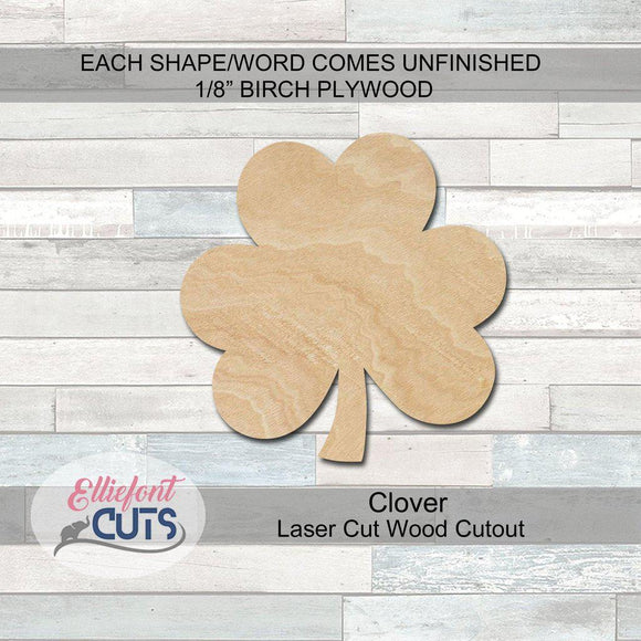 Clover Wood Cutouts - Elliefont Styles