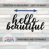 Hello Beautiful Wood Words - Elliefont Styles