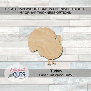 turkey wood cutouts
