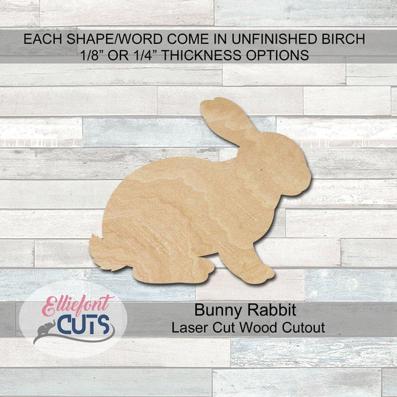 Rabbit wood cutouts