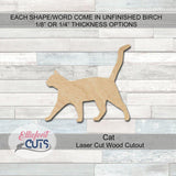 cat Wood Cutouts