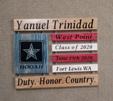 US Army Graduation Sign Armed Forces Boot Camp US Army Wood Sign Hooah - Elliefont Styles