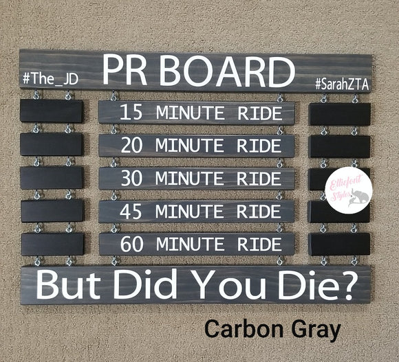 PR Board Couples Stained Personal Record Display Sign - Elliefont Styles