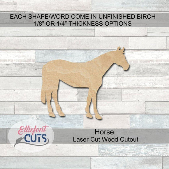 horse wood cutouts