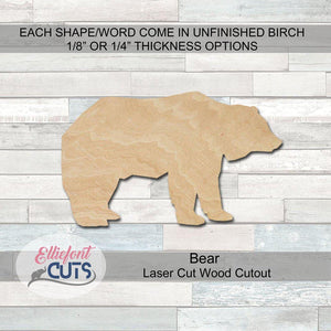 Bear Wood Cutouts - Elliefont Styles