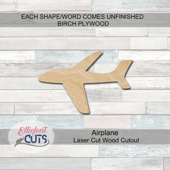 Airplane Wood Cutouts - Elliefont Styles