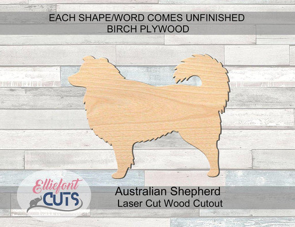 Australian Shepherd Wood Cutouts