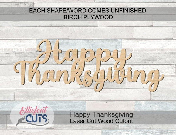 Happy Thanksgiving Wood Words