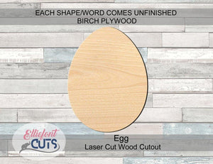 Egg Wood Cutouts - Elliefont Styles