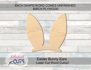 Easter Bunny Ears Wood Cutouts