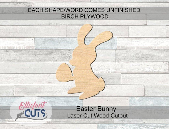 Easter Bunny Wood Cutouts - Elliefont Styles