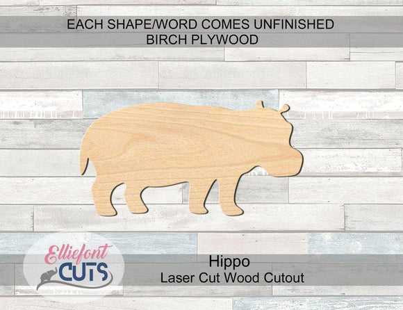 Hippo Wood Cutouts