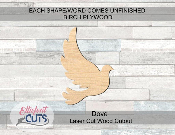 Dove Wood Cutouts - Elliefont Styles