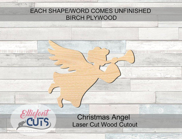 Christmas Angel Wood Cutouts