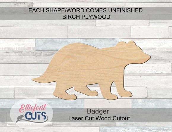 Badger Wood Cutouts