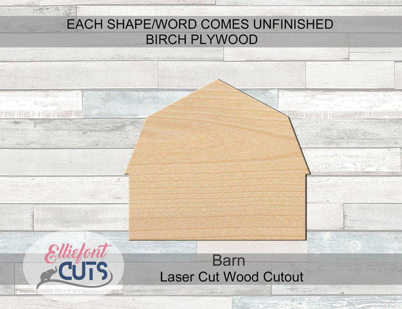 Barn Wood Cutouts - Elliefont Styles