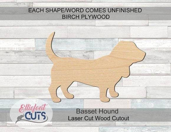 Basset Hound Wood Cutouts