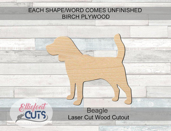 Beagle Wood Cutouts - Elliefont Styles