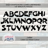 Wood Letters - Elliefont Styles