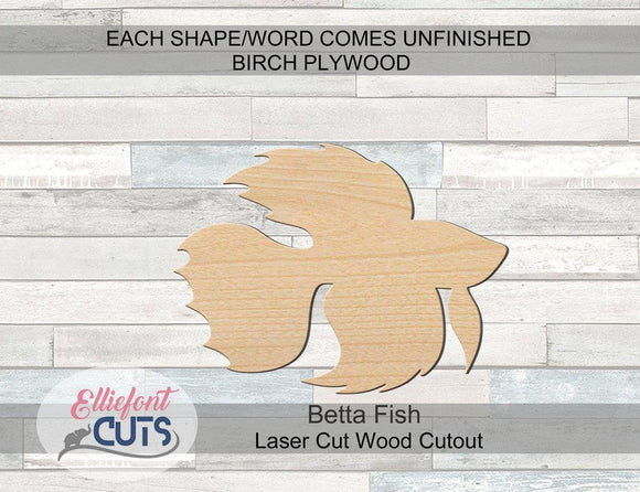 Betta Fish Wood Cutouts