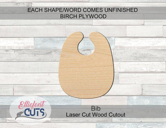 Bib Wood Cutouts