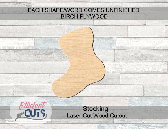Stocking Wood Cutouts - Elliefont Styles