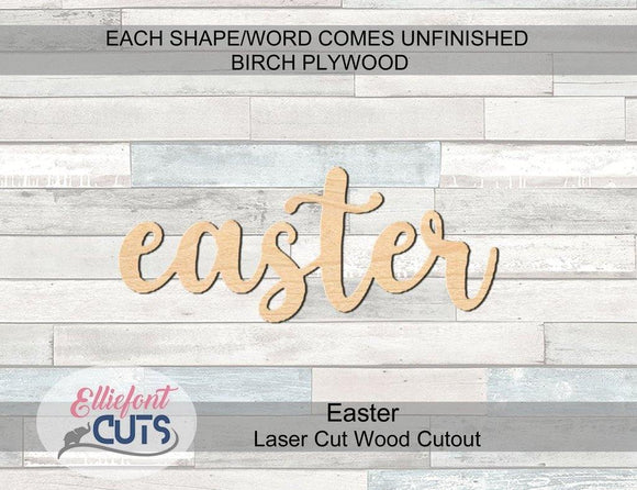 Easter Wood Words - Elliefont Styles