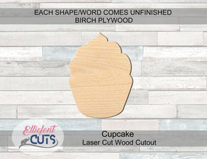 Cupcake Wood Cutouts