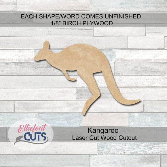 Kangaroo Wood Cutouts