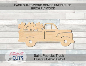 Saint Patricks Truck Wood Cutouts