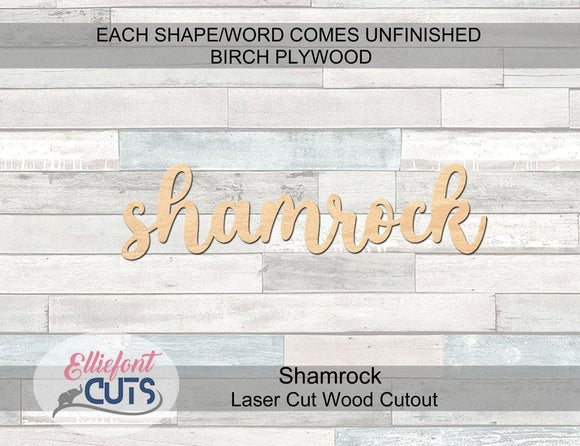 Shamrock Wood Words