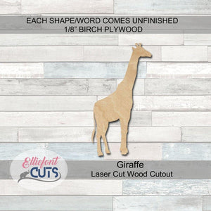 Giraffe Wood Cutouts