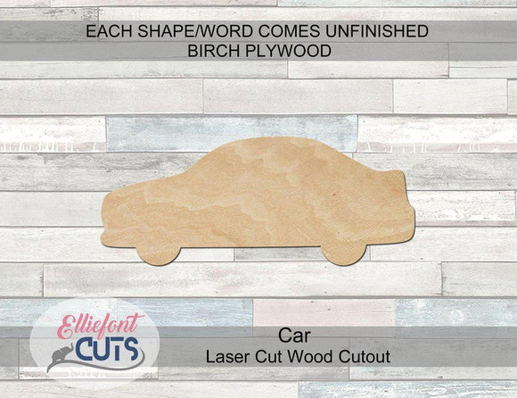 Car Wood Cutouts - Elliefont Styles
