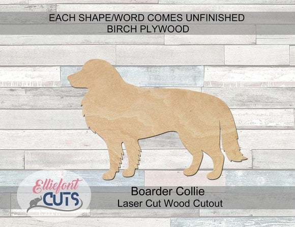 Border Collie Wood Cutouts - Elliefont Styles