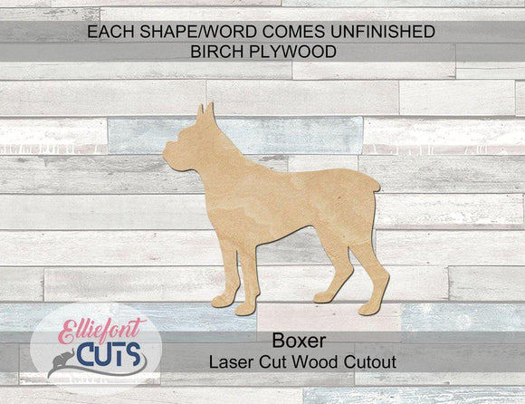 Boxer Wood Cutouts