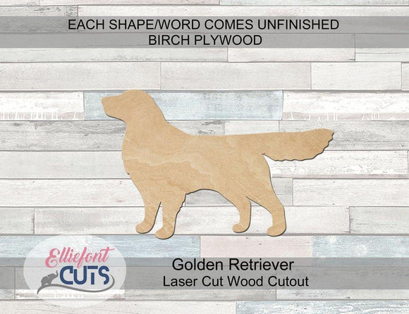 Golden Retriever Wood Cutouts - Elliefont Styles