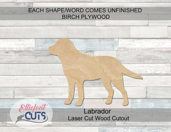 Labrador Wood Cutouts - Elliefont Styles