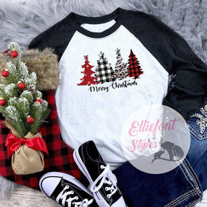 buffalo plaid christmas tree shirt