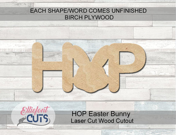 DIY Easter Sign Hop wood cutout