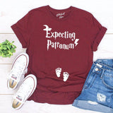Expecting Patronum Funny Pregnancy Announcement Shirt