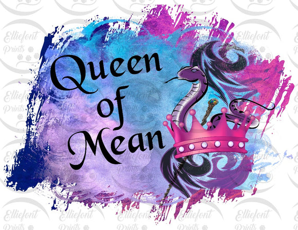 decendents queen of mean sublimation print