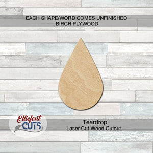 Teardrop Wood Cutouts