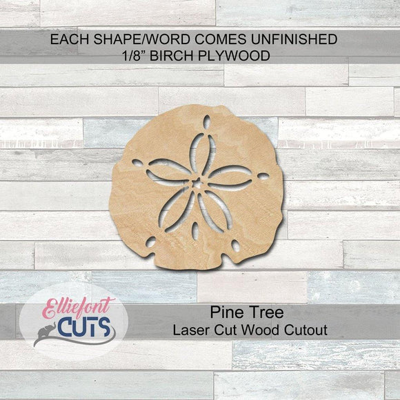 Sand Dollar Wood Cutouts - Elliefont Styles