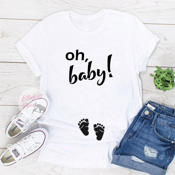 Oh, baby! Pregnancy Announcement Shirts - Elliefont Styles